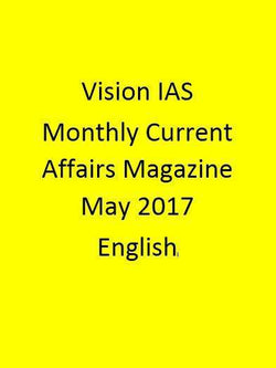 Vision IAS Monthly Current Affairs Magazine – May 2017-English