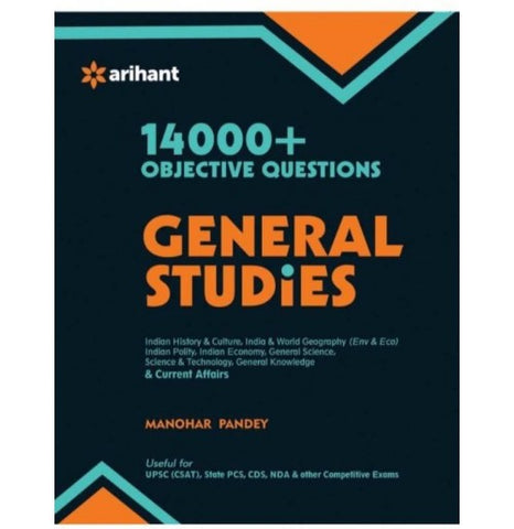 Arihant Publication PVT LTD [14000 + Objective Questions - General Studies (English) (Paperback, Manohar Pandey) (Paperback, Experts' Compilation