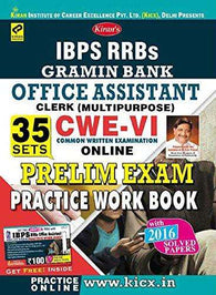 Kiran's IBPS RRB's Gramin Bank Office Assistant Clerk (Multipurpose) CWE-VI Online 35 Sets Prelim Exam Practice Workbook - KP-1933