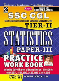 SSC CGL Staff Selection Commission Combined Graduate Level Tier - II Statistics Paprer-III Practice Work Book - 1794