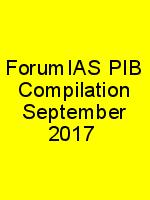 ForumIAS PIB Compilation September 2017 N