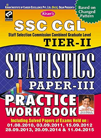 SSC Cgl Tier-II Statistics Paper-III Practice Work Book -English - 1432: Statistics Paper - 3 Practice Work Book