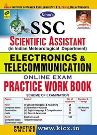 SSC Scientific Assistant Electronics & Telecommunication Online Exam Practice Work Book - 1992