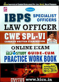 IBPS Specialist Officer SO Law Officer CWE SPL-VI Online Exam Self Study Guide-Cum Practice Work Book - 1807