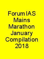ForumIAS Mains Marathon January Compilation 2018 N