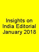 Insights on India Editorial January 2018 N