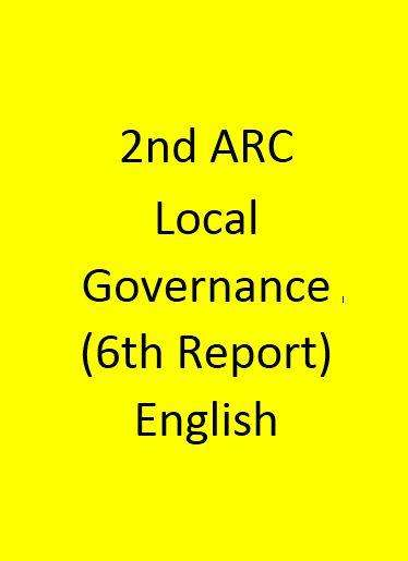 2nd ARC Local Governance (6th Report) - English