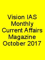 Vision IAS Monthly Current Affairs Magazine October 2017 N