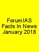ForumIAS Facts In News January 2018 N