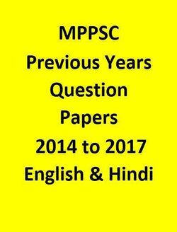 MPPSC Mains Previous Years Question Papers 2014 to 2017 - English & Hindi