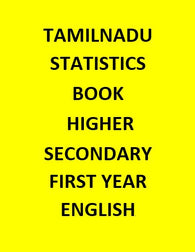 TAMILNADU STATISTICS BOOK HIGHER SECONDARY - FIRST YEAR - ENGLISH