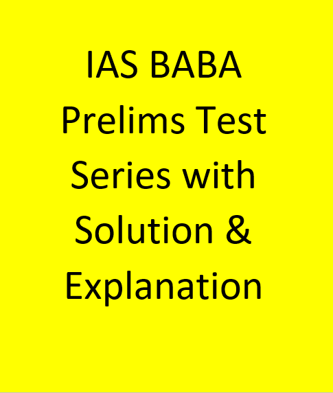 IAS BABA Prelims Test Series With Solution & Explanation - English