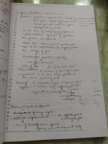 Agriculture Handwritten Notes By Vajiram -English