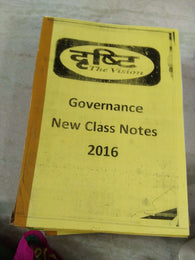 Drishti IAS Governance Notes(शासन) Handwritten Notes Hindi Medium