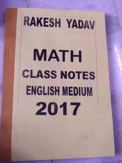 Rakesh Yadav Sir Maths (Arithmetic And Advanced Maths) Class Notes-English