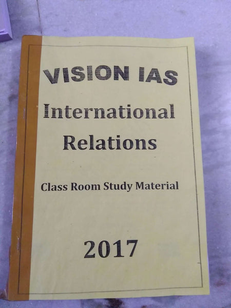 Vision IAS International Relations Printed Notes -English