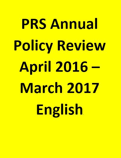 PRS Annual Policy Review April 2016 – March 2017 - English