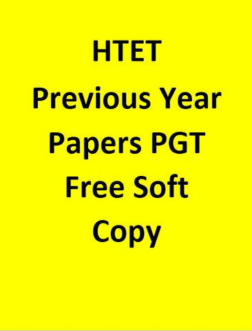 Htet Previous Year Papers For PGT Free Soft Copy
