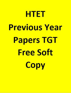 Htet Previous Year Papers For TGT Free Soft Copy