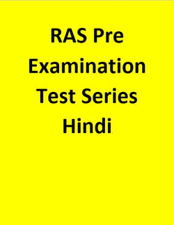 RAS Pre Examination Test Series - Hindi