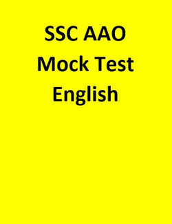SSC AAO Mock Test - English
