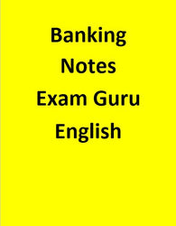 Banking Notes Exam Guru - English