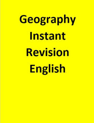 Geography Instant Revision - English