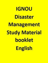 IGNOU Disaster Management Study Material booklet - English