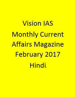 Vision IAS Monthly Current Affairs Magazine – February  2017-Hindi