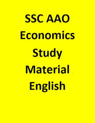SSC AAO Study Material for Economics - English
