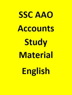 SSC AAO Study Material for Accounts - English