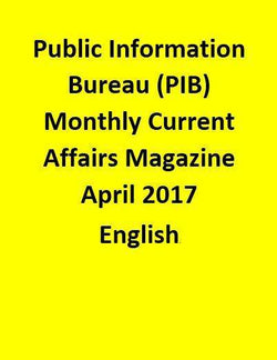 Public Information Bureau (PIB) Monthly Current Affairs Magazine – April  2017-English