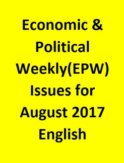 Economic & Political Weekly(EPW) Issues for August 2017 - English