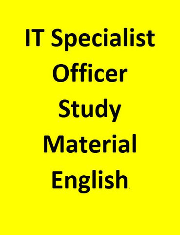IT Specialist Officer Study Material - English