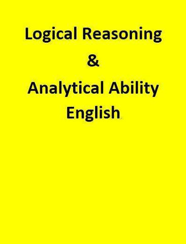 Logical Reasoning & Analytical Ability - English