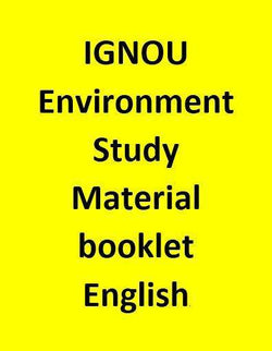 IGNOU Environment Study Material booklet - English