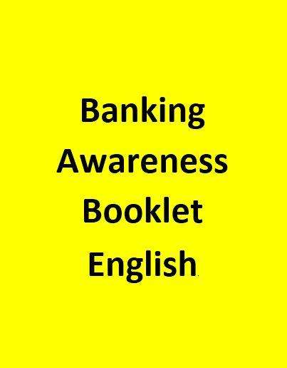 Banking Awareness for Bank exams - English