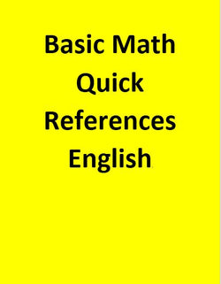 Basic Math Quick References - English