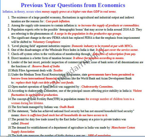 ECONOMICS+Banking Awareness A Short Note and Awareness Free Soft Copy