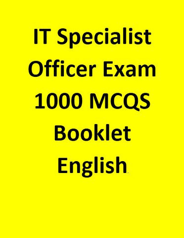 IT Specialist Officer Exam 1000 MCQS  Booklet - English
