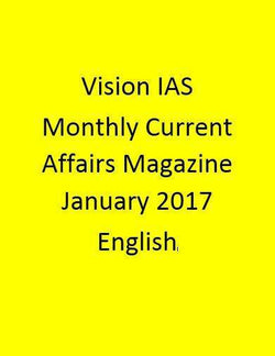 Vision IAS Monthly Current Affairs Magazine – January 2017-English