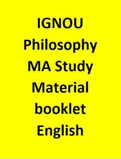 IGNOU Philosophy MA Study Material booklet - English