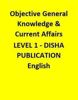 Objective General Knowledge & Current Affairs- LEVEL 1 - DISHA PUBLICATION - English