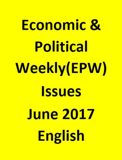 Economic & Political Weekly(EPW) Issues for June 2017 - English