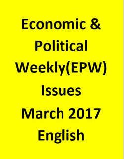 Economic & Political Weekly(EPW) Issues for March 2017 - English