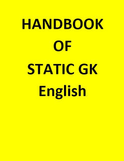 HANDBOOK OF STATIC GK - English