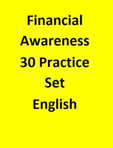 Financial Awareness For Bank Exams 30 Practice Set - English