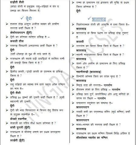 Rajasthan Exam Tonic Free Soft Copy