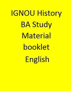IGNOU History BA Study Material booklet - English
