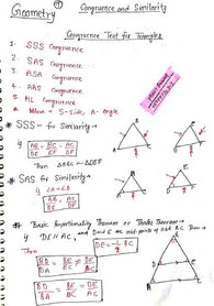 Geometry Handwritten Notes Free Soft Copy